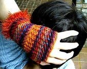 KNITTING PATTERN Frizzle Fingerless Gloves, Wrist Warmers, Arm Warmers