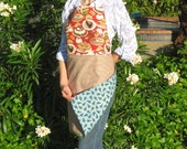 Full Apron ladies pastries theme coffee desserts Christmas reversible lady woman womens adult adults handmade sale pastry girl girls