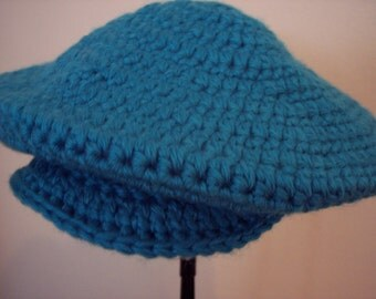 Adult Crochet  Tam hat with brim