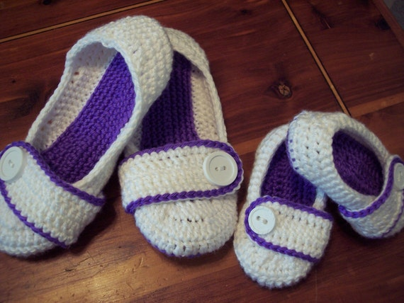 Reserved Order for Jonathan  Mother/daughter slippers