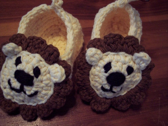Baby Lion Slippers Size 0-6 mths