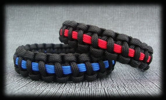 Items Similar To Thin Blue Line Thin Red Line Paracord
