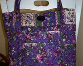 Lavender quilted Tote, Purse