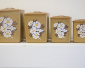 Set of Four Vintage Canisters