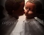 "ACEO ""Angelic First Kiss"" Fine Art Photograph Print/card  2.5"" x 3.5"""