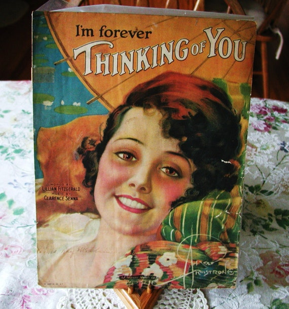 10% Discount CLEARANCE 1920's Sheet Music - I'm Forever Thinking of You  By Clarence Senna