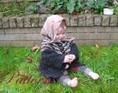 Tunisian Crocheted Jacket baby sweater PATTERN