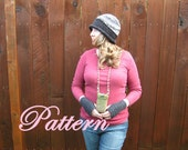 Tunisian Cell Phone, Camera, Credit card, two pouch Purse, crochet PATTERN
