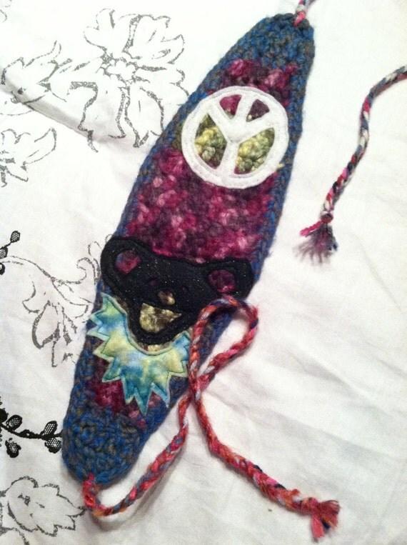 crochet hippie headband - free shipping