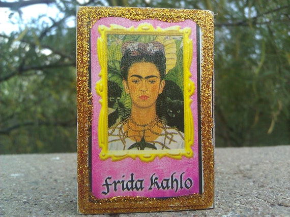 Day of the Dead Loteria Card Matchbox, Frida Kahlo, Candles