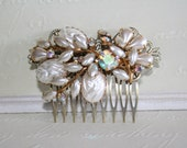 Vintage Upcycled Bridal Hair Comb