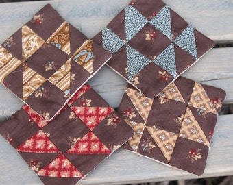 Coasters- Set of Four Fabric Mug Rugs