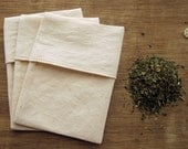 "100% Organic Cotton Reusable Tea Bags 3X4"" Standard Size - Choose Your Quantity"