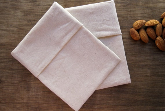 Organic Reusable Small Snack Bag Set of 2 -- Organic Unbleached Cotton Muslin Double Layer, Eco Friendly