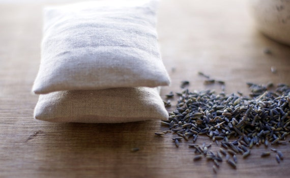 Lavender Sachet Natural Linen with Inserts