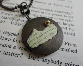 Live and Let Live Locket Necklace