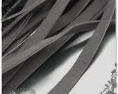 10pcs  8x1.5mm GreyBlack wide square Artificial leather Ribbon cords hide rope string for jewelry Charm z33BB