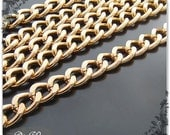 10meters 18x13mm heavy Antique Vintage Iron plated Imitation gold large twist oval Jewelry cable Charm Chains Links 1a15BB