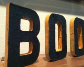 "Reversible Burlap ""BOO"" Letters"