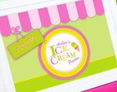 ICE CREAM Parlor - Printable WELCOME Sign - Personalized