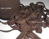 "Dark Coffee Fold Over Elastic 5/8"" - 10 Yds"