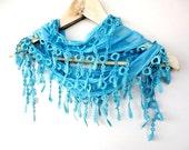 NEW LISTING Natural Cotton Scarf Adorned Fringed Guipure Scarf,Bandana,Headband,Elegant 2012 fashion