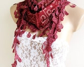 NEW LISTING Natural Cotton Scarf Adorned Fringed Guipure Scarf,Bandana,Headband,Elegant 2013 fashion - ScarfLovers