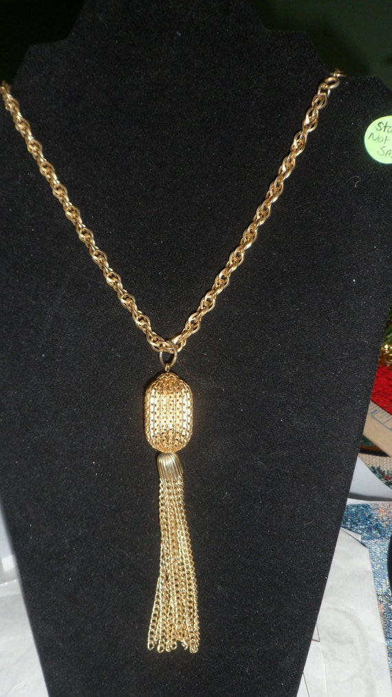 Vintage Goldtone Long Necklace