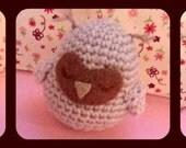 Sleepy Owl Amigurumi Doll