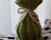 Knit Tie Top Baby Hat