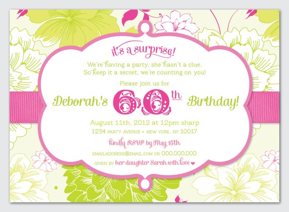 Surprise Birthday Party Invite - DIY Printable