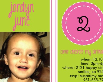 Birthday Invitation - Customized Print Yourself
