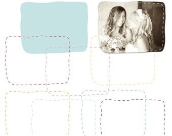 Rectangle Stitch Borders - Clip Art for Personal & Commercial Use - INSTANT DOWNLOAD - Digital Designs