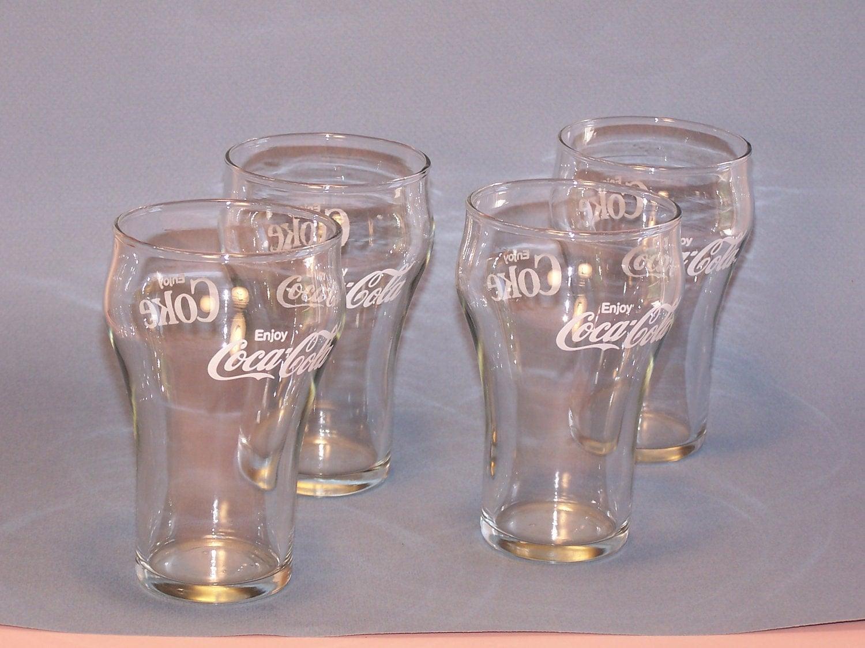 Vintage Coca Cola Drinking Glasses Set Of 4