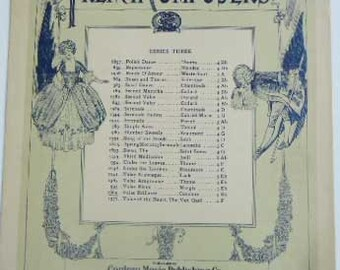 Vintage Sheet Music 1913 French Composers