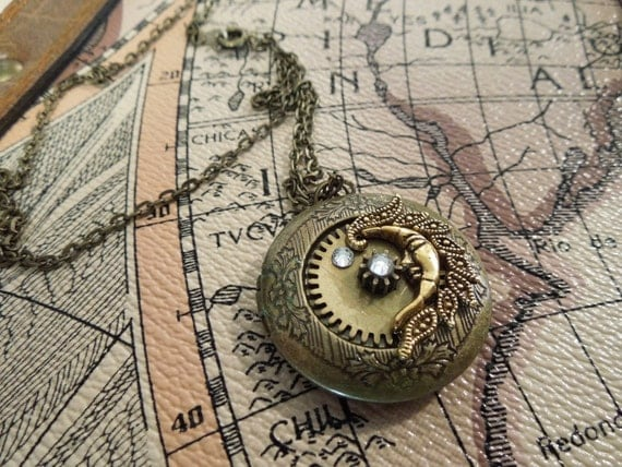 Night Time Steampunk Locket