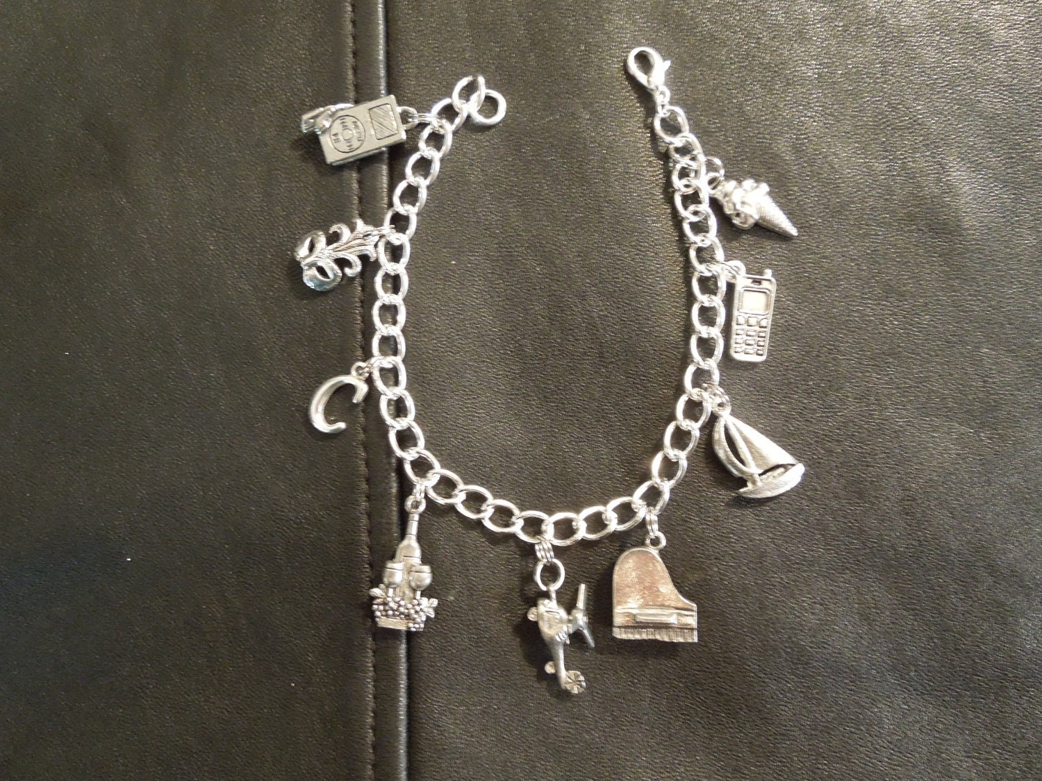 fifty shades of grey inspired charm bracelet by