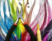 Cruelty Free Hair Extension CHOOSE YOUR COLORS How To Kit 20 Emu Hair Extensions and all Tools