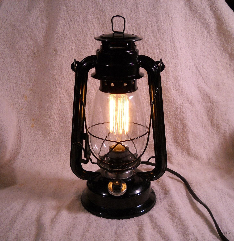 Black Electric Lantern Industrial Table Lamp Hanging Lighting