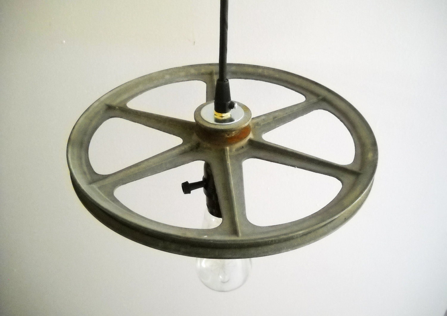 industrial pendant light hanging vintage metal steampunk