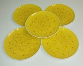 Vintage Corning Centura Gold and Yellow Daisy Plates