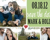 Wedding Save the Date : Festive Photo Collage