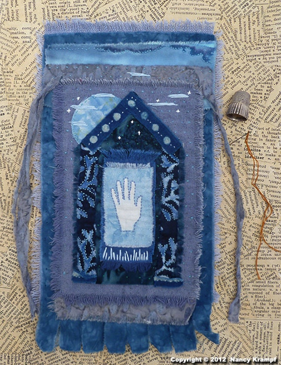 "Featured in ART QUILT STUDIO , Summer 2013 Art Quilt ""She Loved Moon"""