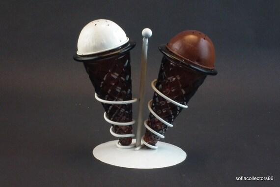 Ice Cream Cone Salt & Pepper Shakers