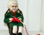 Grandma Bertha/ Needle Felted OOAK Doll