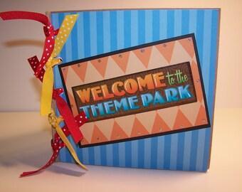 Theme Park Memories Paper Bag Album- great way to capture your theme park vacation memories