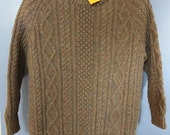 Traditional Adult Aran Pure Wool Sweater
