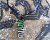 Double Hawaiian Sea Glass/Beach Glass Pendant/Necklace