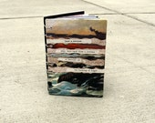 Original Collaged Journal Sketchbook with Rumi Poetry Quote