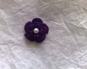 "SOLD Royal Purple Flower 2"" Hijab/Corsage Pin"